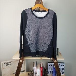 5cm | Black White Zipper Sweater Sweatshirt